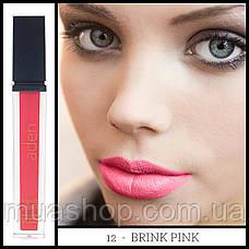 Aden Жидкая устойчивая помада Liquid Lipstick (12/Brink Pink) 7 ml, фото 2