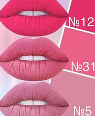 Aden Жидкая устойчивая помада Liquid Lipstick (12/Brink Pink) 7 ml, фото 3