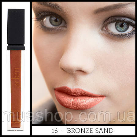Aden Жидкая устойчивая помада 186 Liquid Lipstick (16/Bronze Sand) 7 ml, фото 2