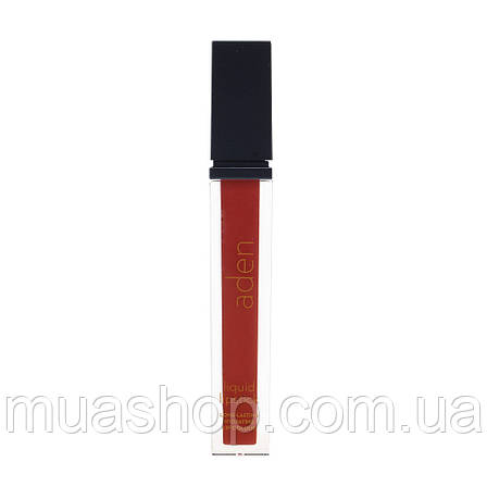 Aden Жидкая устойчивая помада Liquid Lipstick (18/Ottawa Garnet) 7 ml, фото 2