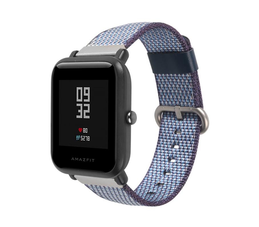 Ремешок SIKAI нейлоновый для Xiaomi AMAZFIT Bip / 20мм Youth Buckle Navy / Blue (Синий / Голубой)