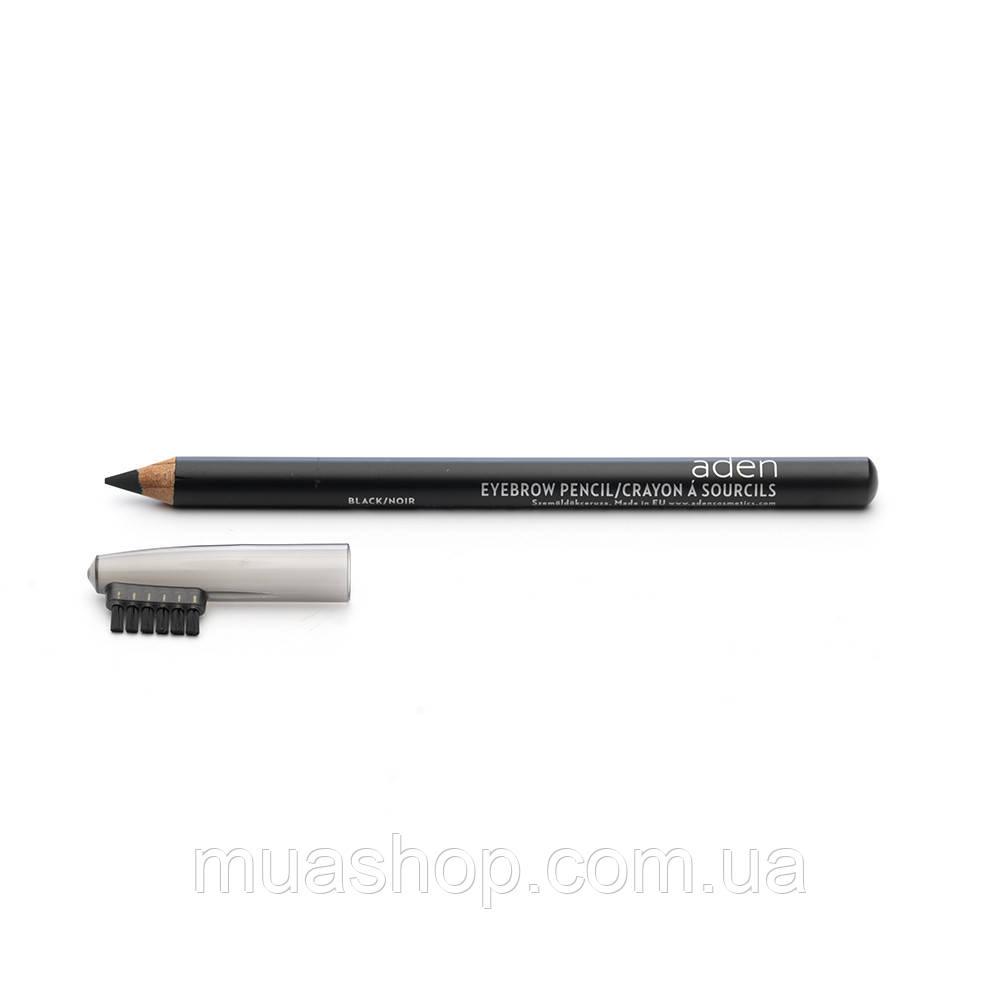 Aden Карандаш для бровей 075 Eyebrow Pencil (Black) 1,14 gr