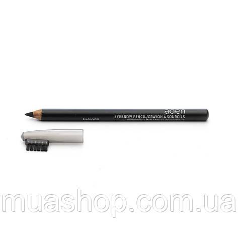 Aden Карандаш для бровей 075 Eyebrow Pencil (Black) 1,14 gr, фото 2