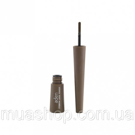 Aden Рассыпчатые тени для бровей 166 Eyebrow Loose Powder (01/Light Brown) 0,7 gr, фото 2