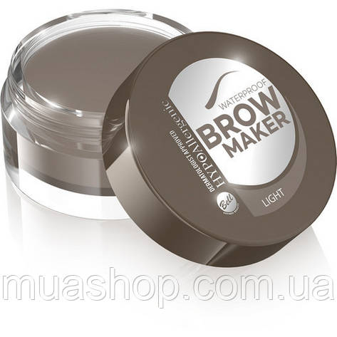 Помада для бровей №01 Light водостойкая, Waterproof Brow Maker HYPOAllergenic, фото 2