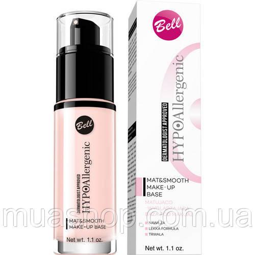 База под макияж матирующая и разглаживающая Bell HYPOAllergenic Mat & Smooth Make-Up Base