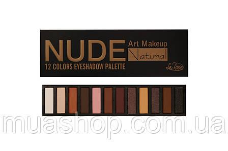 Тени для век La Rosa 12-ти цветные Nude (LE 212-1) , фото 2
