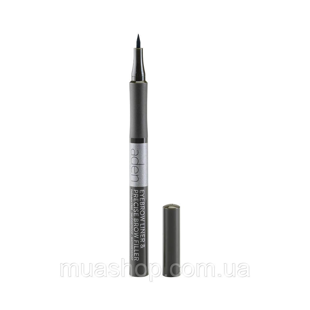 Aden Маркер для бровей Eyebrow Liner & Precise Brow Filler (03 Ebony)