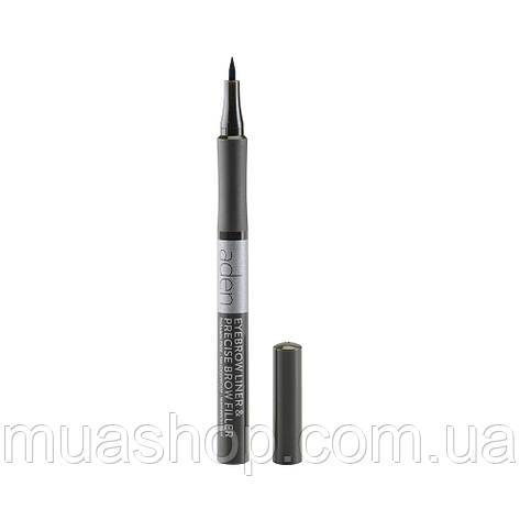Aden Маркер для бровей Eyebrow Liner & Precise Brow Filler (03 Ebony) , фото 2