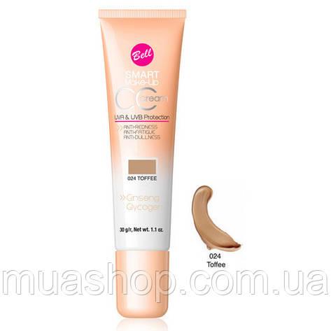 Тональный флюд CC Cream Smart №24 (Toffee)30гр, фото 2