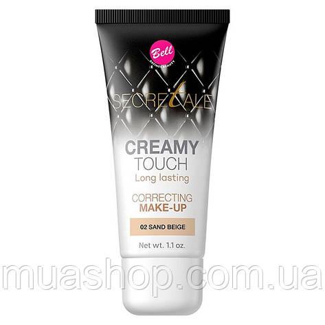Тональный флюид корректирующий №02 (Sand Beige) Creamy Touch Correcting Make-Up Bell, фото 2
