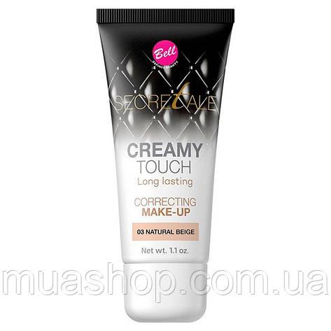 Тональный флюид корректирующий №03 (Natural Beige) Creamy Touch Correcting Make-Up Bell, фото 2