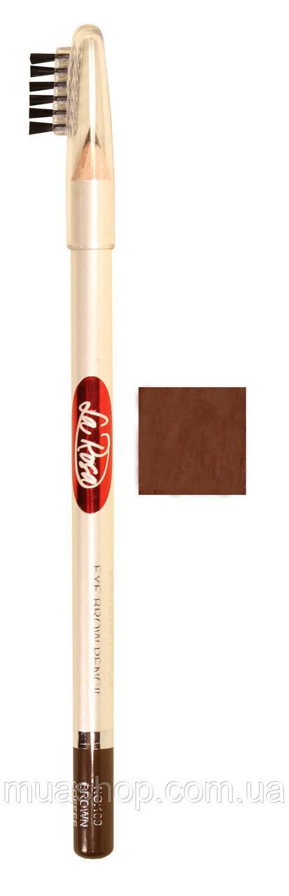Карандаш для бровей №107 La Rosa (Шоколадно-Коричневый) LP100