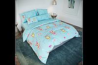 Постельное белье, двуспальный комплект, хлопковое постельное белье, бязевое постельное белье, Сова