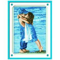 """""""Дети на пляже"""" Набор для рисования камнями"""