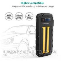 Внешний аккумулятор RavPower Car Jump Starter 8000mAh 300A Peak Current Quick Charge 3.0 Black/Yellow (RP-PB00, фото 2