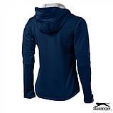 Куртка женская с капюшоном на флисе Softshell Lady тм Slazenger \ es - 33307, фото 9