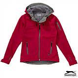 Куртка женская с капюшоном на флисе Softshell Lady тм Slazenger \ es - 33307, фото 4
