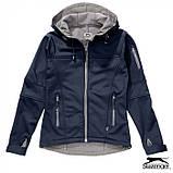 Куртка женская с капюшоном на флисе Softshell Lady тм Slazenger \ es - 33307, фото 6