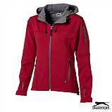 Куртка женская с капюшоном на флисе Softshell Lady тм Slazenger \ es - 33307, фото 3