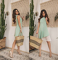 Женское летнее платье без рукавов.Размеры:42-46.+Цвета , фото 1