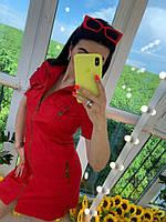 Платье летнее Сафари красное  46-48 р., фото 1