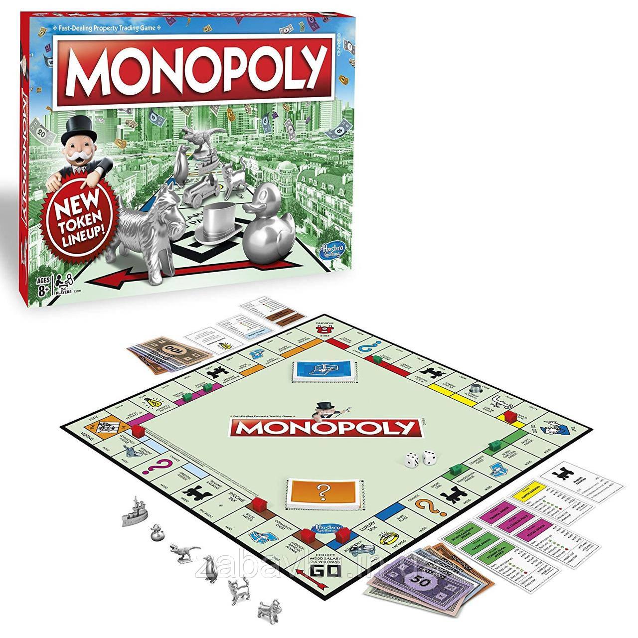 Класична Монополія оригінал Хасбро Monopoly Classic Game Hasbro