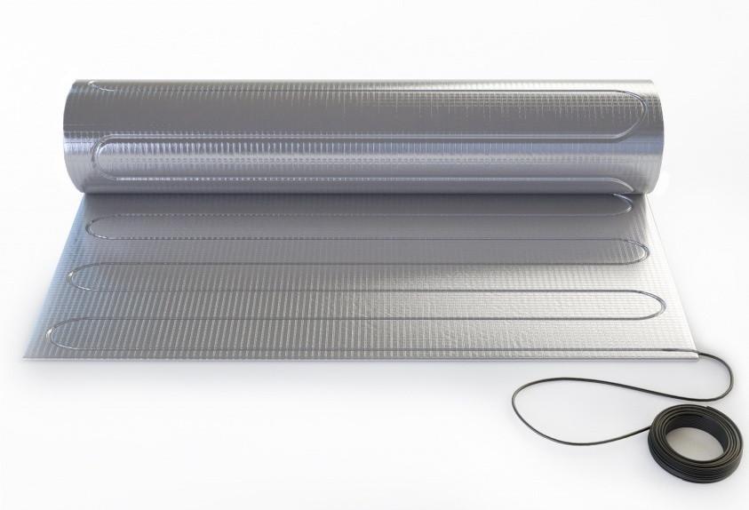 Теплый пол - Тонкий нагревательный мат «Теплолюкс» ALUMIA 1350 - 9,0, (150Вт/м2)