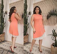 Женское летнее платье без рукавов большого размера.Размеры:48-58.+Цвета , фото 1