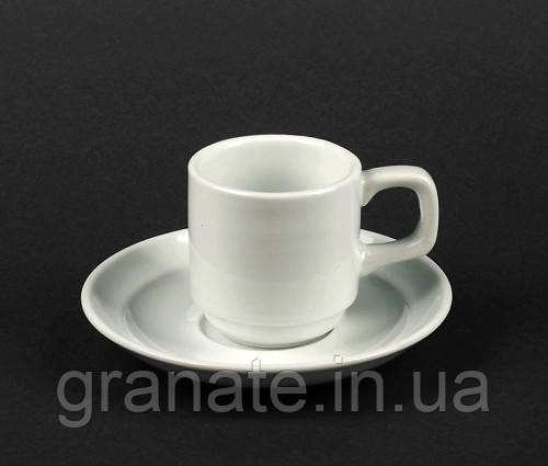 Набор Чашка с блюдцем 90 мл, фарфор 6 шт