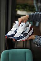 Женские кроссовки Adidas Falcon White/Blue/Red, фото 1