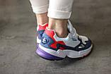 Женские кроссовки Adidas Falcon White/Blue/Red, фото 6