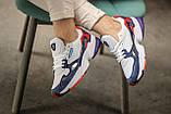 Женские кроссовки Adidas Falcon White/Blue/Red, фото 2