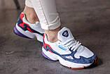 Женские кроссовки Adidas Falcon White/Blue/Red, фото 8