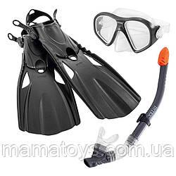 Ласты, маска, Трубка 55657 Intex Набор для плаванья, от 14 лет, Размер L (41-45) Интекс