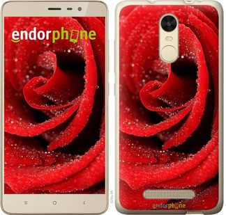 "Чехол на Xiaomi Redmi Note 3 Красная роза ""529c-95-571"""