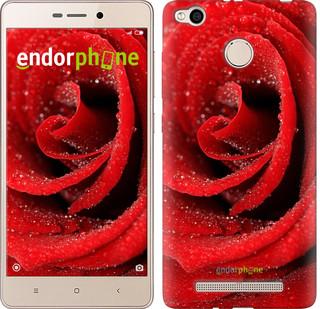 "Чехол на Xiaomi Redmi 3x Красная роза ""529c-441-571"""