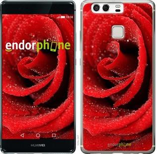 "Чехол на Huawei P9 Красная роза ""529c-347-571"""