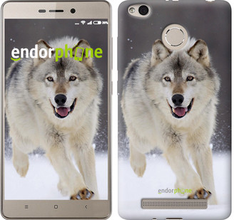 "Чехол на Xiaomi Redmi 3s Бегущий волк ""826c-357-571"""
