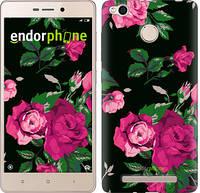 """Чехол на Xiaomi Redmi 3x Розы на черном фоне """"2239c-441-571"""""""