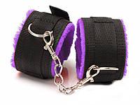 Наручники на ноги для БДСМ  Черный с фиолетовым