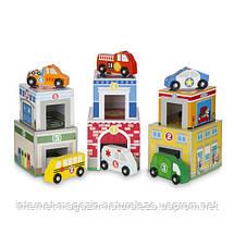 Набор блоков-кубов Melissa&Doug Здания и транспорт, фото 2