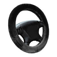 Оплетка (чехол) на руль L Elegant 105 446 мех, черная