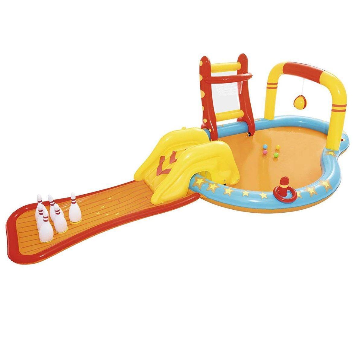 Надувной игровой центр Bestway 52211 «Кораблик» с надувными кольцами