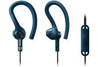 Навушники вакуумні провідні з мікрофоном Philips ActionFit SHQ1405BL/00 mic Gray Blue
