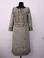 Льняное платье Ятрань серое