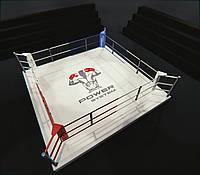 Боксерский ринг на помосте 35 см, тренировочный 4Х4 метра, ринг для бокса