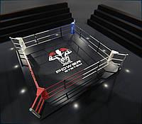 Боксерский ринг на помосте 35 см, тренировочный 5Х5 метра.