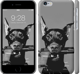 "Чехол на iPhone 8 Доберман ""2745c-1031-328"""