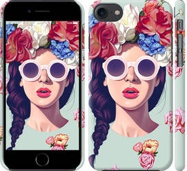 """Чехол на iPhone 7 Девушка с цветами """"2812c-336-328"""""""